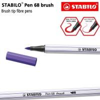 STABILO Pen 68 Brush Violet / Ungu / Premium Marker Kuas Kaligrafi Art