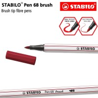 STABILO Pen 68 Brush Purple / Ungu / Premium Marker Kuas Kaligrafi Art
