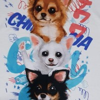 Kaos /T shirt/Baju/Kaos gambar hewan/Kaos gambar anjing CHIHUAHUA