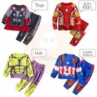 [MMP101] Baju Piyama/ Kostum Avengers, Thor, Iron, Hulk, Captain