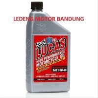 TERMURAH Oli Lucas 10w40 Semi Synthetic Oil Motor Bebek Sport Mat