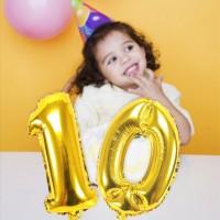 Baru Emas Surat Nama Balon Helium Foil Surat Balon Dekorasi