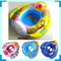 pelampung setir motif anak balita baby swimming ban renang duduk