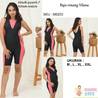 Vilana – Baju renang hamil Estila Mama model celana Hitam-Salem