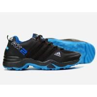 Sepatu Sneaker Adidas Ax2 Premium Hitam-Biru Shoes Pria Casual