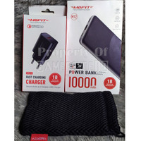 Paket Powerbank MOFIT M12 10000mAh Fast Charge, Charger QC Free Pouch