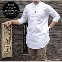 Baju Koko Muslim Busana Pria Arama Panjang Trend India Pakistan Putih