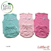 Little Q - Setelan baju bayi kutung polos girl series size Newborn