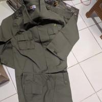 baju dan celana pdl hijau jatah polri asli polisi dan satpol pp pol pp