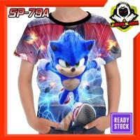 Kaos Sonic the hedgehog Baju Anak Murah tokoh kartun