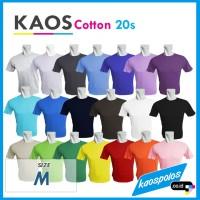 Tshirt/ Kaos Polos/ Oblong Polos/ Cotton 20s Lengan Pendek O-neck/ M