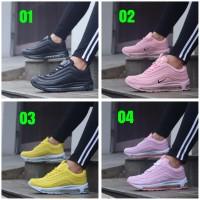 Sepatu Wanita Murah Nike Air Max 97 Full Black Pink Yellow White