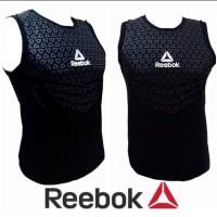 SINGLET BODY REBOK / baju training gym fitnes pria kaos running