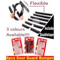 sticker bumper pintu mobil bamper guard slim door universal 8pcs