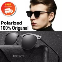 kacamata pria Hitam polarized UV 400 anti silau sunglasses seri 0911