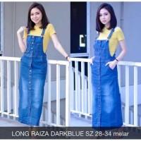 Baju Overall Dress Jumpsuit Rok Kodok Polos Panjang Bahan Jeans Brave