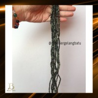 Black Jade 4mm magnetic bahan gelang kalung kesehatan premium akik