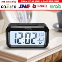 Jam Meja Digital / Jam Weker Pintar / Digital Smart Alarm Clock - Hitam