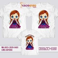 Jual Baju Kaos Couple Keluarga / Ulang Tahun Anak Motif Frozen NW 1435