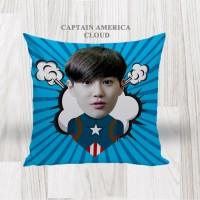 Bantal Sofa / Cushion foto karikatur - Captain America Cloud