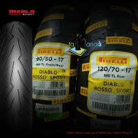 PAKET BAN PIRELLI DIABLO ROSSO SPORT size 90/80 dan 120/70 Ring 17