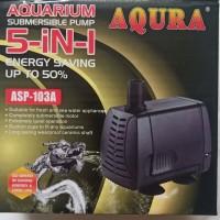 aquarium pompa celup water pump AQURA ASP 103 A 5 IN 1 LOW WATT