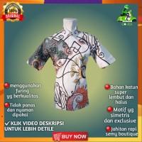 Baju Batik Pria Lengan Pendek Semy Tulis Modern Exclusive Casual BMP07