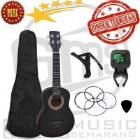 Gitar Ukulele Kentrung Senar 3 dan Senar 4 Paket Super Komplit