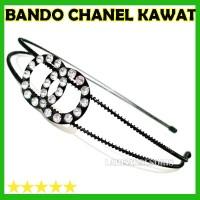 BANDO KAWAT logo CHANEL PUTIH MURAH / aksesoris Rambut Bando
