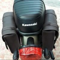 Side bag tas motor kawasaki W175 / tas back rack W175 .aksesoris motor