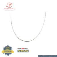 Kalung Italy Emas Putih asli 750 INTERNASIONAL Original