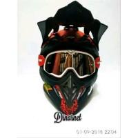 kacamata goggle helm cross trill trabas klx brostow white kombinasi