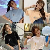 Kaos T-Shirt Gaya Korea Motif Print Kartun Luar Angkasa