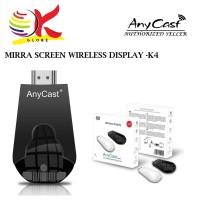 【 Ready stock 】 COD K4 Miracast Anycast Chromecast Chromecast