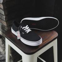 Promo !! Sepatu Pria VANS AUTHENTIC Hitam Sepatu Kuliah Hangout