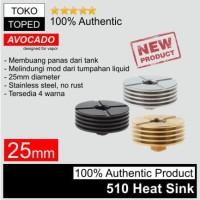 Authentic Avocado 510 Heat Sink 25mm | 25 rda rdta heatsink stainless