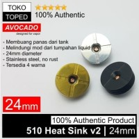 Authentic Avocado 510 Heat Sink v2 24mm Stainless Steel | 24 rda rdta
