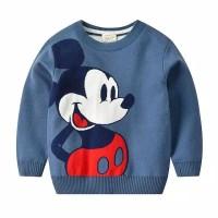 Sweater bayi mickey mouse biru