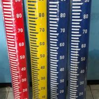 water level staff gauge peilschaal plat ukur air bak ukur air