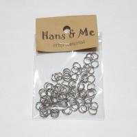 Ring Sambung Anting Gelang 6mm warna Silver