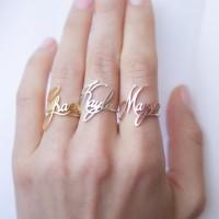 Cincin Emas Asli Ukir Nama Cincin Emas Nama Murah Cincin Wanita Cantik