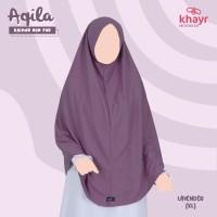 Khimar Aqila Series Khayr Moswear Bergo Kaos Non Pet Hijab Instant