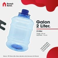 Botol Plastik Galon AQUA 2L 2 Liter Kemasan Air Mineral Minum PET