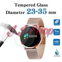 Custom Tempered Glass Anti Gores Kaca Jam Tangan Smartwatch Analog