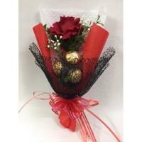 Buket Bunga Coklat Valentine / Premium Flower Chocolate Bouquet