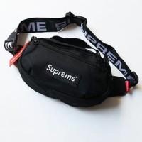 2 WARNA !! WAIST BAG SUPREME 8099 PREMIUM TAS PRIA SLING BAG IMPORT