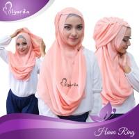 hijab instan hana ring kerudung jilbab syari pashmina instan