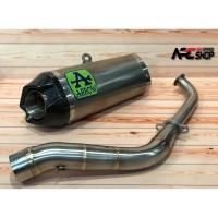 Knalpot Arrow Works Titanium Aerox 155 & Lexi 155 Fullsystem Stainles