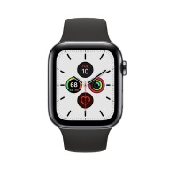 Apple Watch Series 5 44mm Stainless Sapce Grey with Black Sport Band
