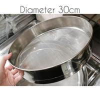 Powder strainer / pengayak tepung / saringan tepung stainless 30cm